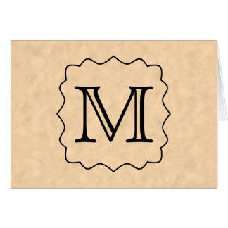 Ditt brev. Beställnings- Monogram. Svart & OBS Kort