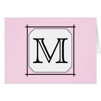 Ditt brev. Beställnings- Monogram. Svart vit för OBS Kort