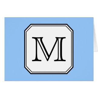 Ditt brev. Beställnings- Monogram. Svart White. OBS Kort