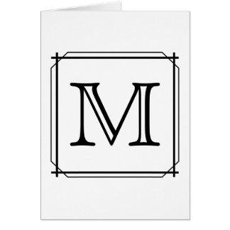 Ditt brev. Beställnings- Monogram. Svartvitt OBS Kort