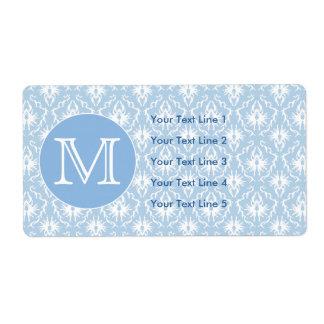 Ditt brev, Monogram. Blek - blåttdamastmodell Fraktsedel