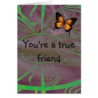 Ditt en riktig vän hälsningskort