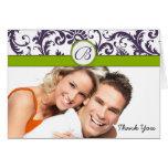 Ditt foto Apple - grönt & Lapis damasttack Hälsnings Kort