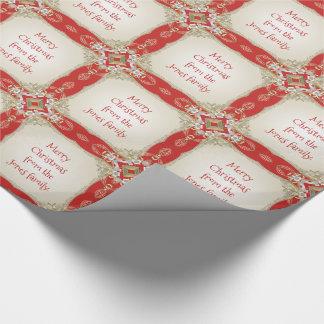 Ditt meddelande - utsmyckat guld- Filigree rött Presentpapper