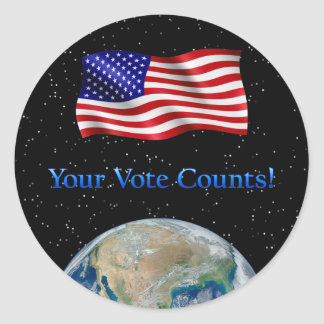 Ditt rösta räkningar - åtskilliga produkter runt klistermärke