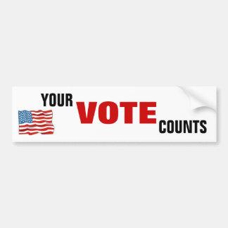 Ditt rösta räkningar bildekal