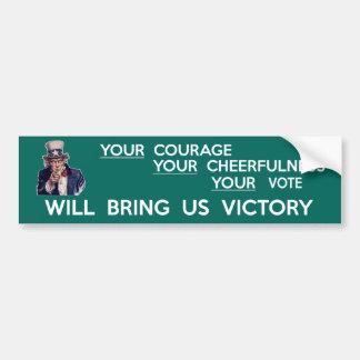 Ditt rösta ska kommer med oss seger bildekal