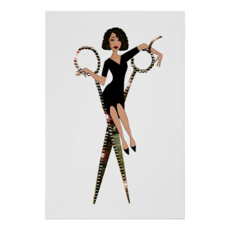 """Diva """"för saxDiva"""" afrikansk amerikan Poster"""