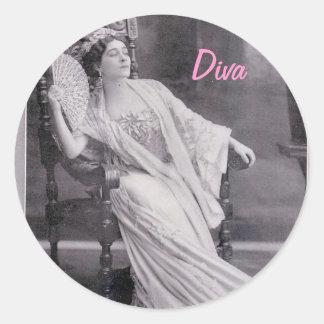 Diva Runt Klistermärke