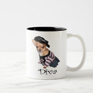 Diva Två-Tonad Mugg