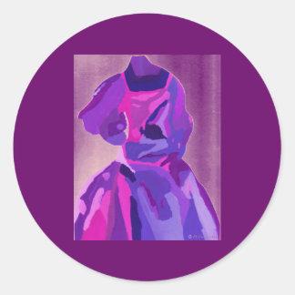 DivaFashionista i blått Runt Klistermärke