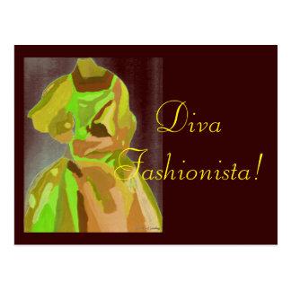 DivaFashionista i vår Vykort