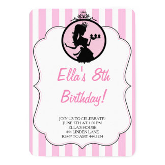 Divalicious Princess födelsedagsfest inbjudan
