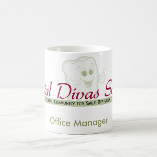 Divamugg för kontorschef vit mugg