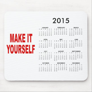 DIY gör din egna kalender 2015 Mus Matta
