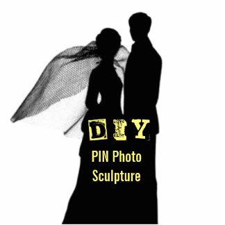 DIY - Klämma fast fotoskulptur Fotoskulptur Knapp