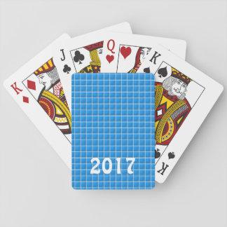 DIY-mallen redigerar TEXT till ditt egna newyear Spelkort