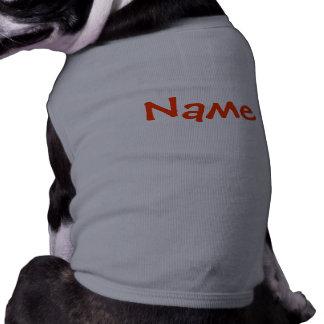 DIY-namn - grå färg för hunddräkttanktop Husdjurströja