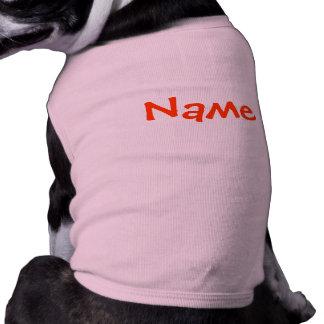 DIY-namn - rosa för hunddräkttanktop Hundtröja