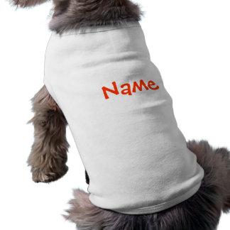 DIY-namn - vit för hunddräkttanktop Husdjurströja
