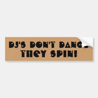 DJ dansar inte dem snurrandet Bildekal