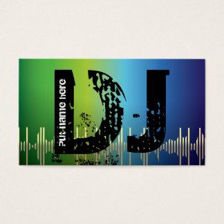 Dj-diskjockeyvisitkortar Visitkort
