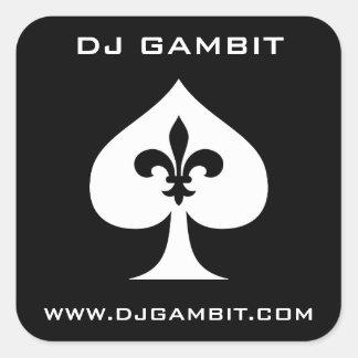DJ-GAMBITKLISTERMÄRKEAR FYRKANTIGT KLISTERMÄRKE