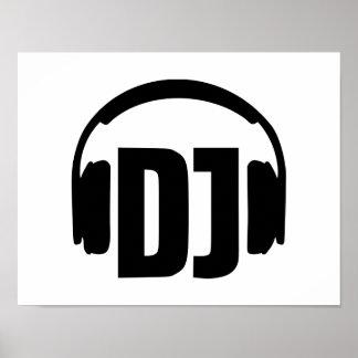 Dj-hörlurar Poster