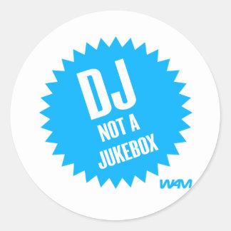 DJ inte en jukebox Runt Klistermärke