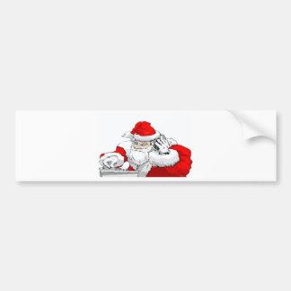 Dj-jultomten som blandar julpartyet, spårar bildekal