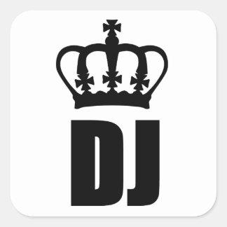 Dj-kung Fyrkantigt Klistermärke