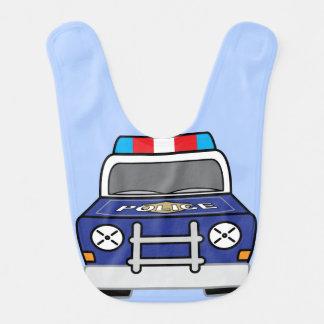 Djärv blåttpolisbensindriven bil hakklapp
