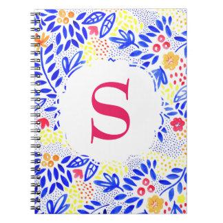 Djärv färgglad personifierad anteckningsbok med spiral