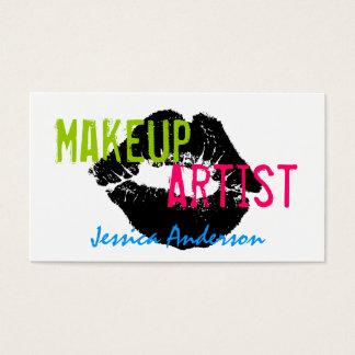 Djärv & färgrik Makeupkonstnär Visitkort