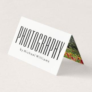 Djärv fotograf för modern trendig visitkort