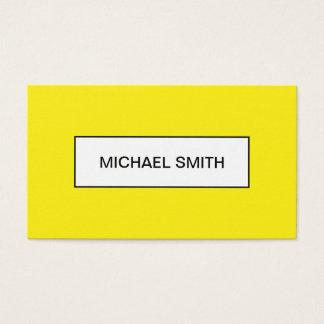 Djärv gul minimalist moderiktig visitkort