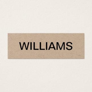 Djärv minimalist modern visitkort