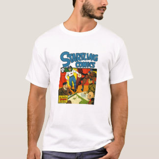 Djärv patriot från vintageåldern av humorböcker t-shirt