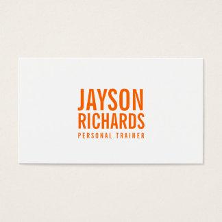 Djärv personlig instruktörvisitkort för orange/för visitkort