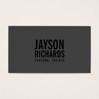 Djärv personlig instruktörvisitkort för svart/för visitkort