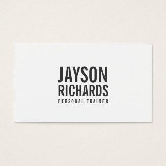 Djärv personlig instruktörvisitkort visitkort