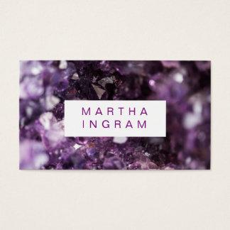 djärv purpurfärgad Amethyst kristall för modern Visitkort