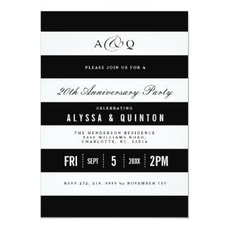 Djärv svart inbjudan för randårsdagparty