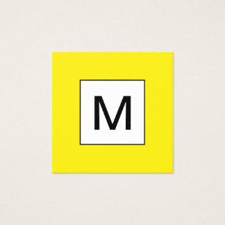 Djärv visitkort för monogramminimalistgult