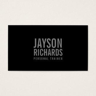 Djärva grått/personlig instruktörvisitkort för visitkort
