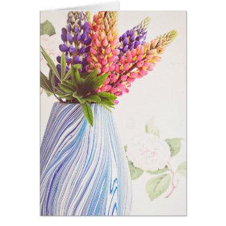 Djärva härliga blommor hälsningskort