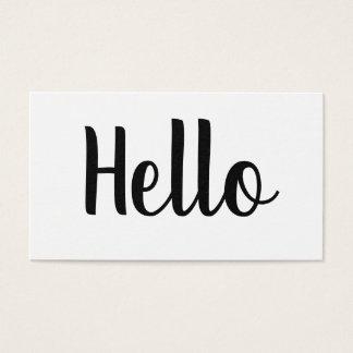 Djärva hejvisitkortar för yrkesmässig minimalist visitkort