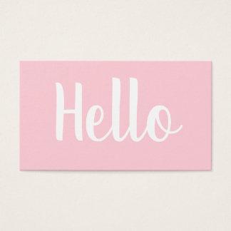 Djärva pastellfärgade rosa visitkortar för visitkort