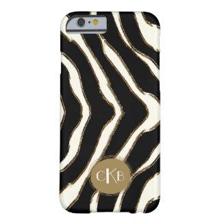 Djärvt fodral för zebra tryckMonogramiPhone 6 Barely There iPhone 6 Skal