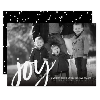 Djärvt kort för glädjehelgdagfoto 12,7 x 17,8 cm inbjudningskort